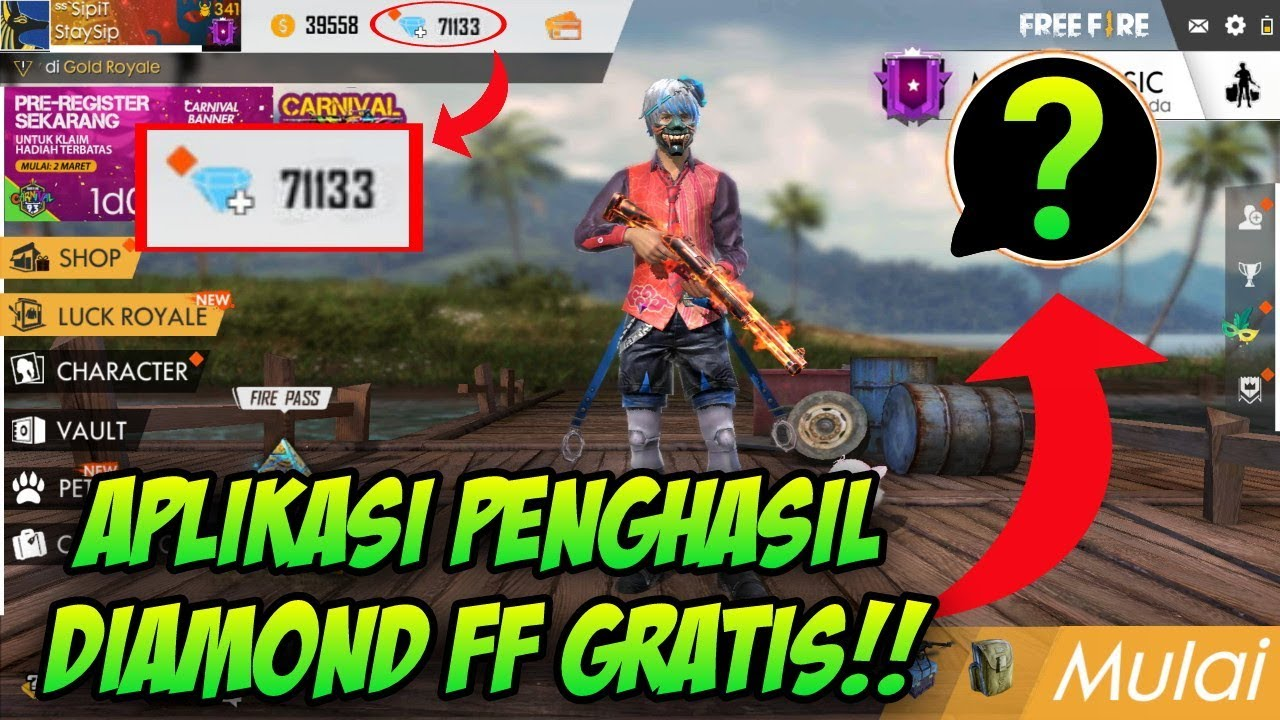 Aplikasi Penghasil Diamond Free Fire Gratis 100 Work Free Fire Indonesia Youtube