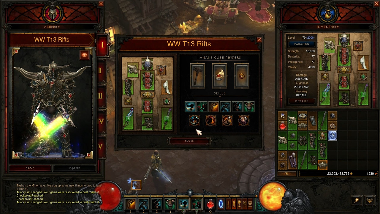 Diablo 3 2 5 0 Ptr New Armory Sets Storing Builds Save Switch Mat Storag Youtube