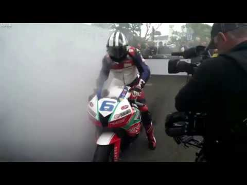 LiveLeak.com - Isle of man tt winner Michael Dunlop
