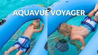 Aquavue Voyager Transparent Bottom Inflatable Water Raft