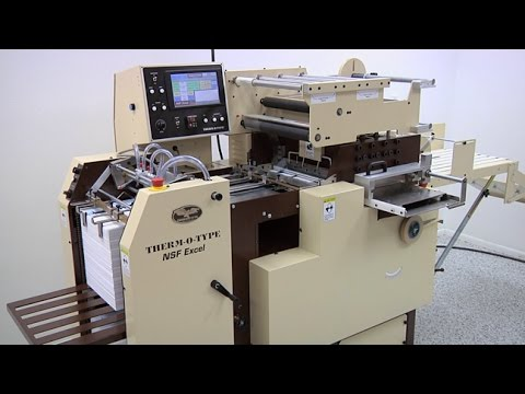 Hot Foil Stamping Equipment - NSF Excel Demonstration