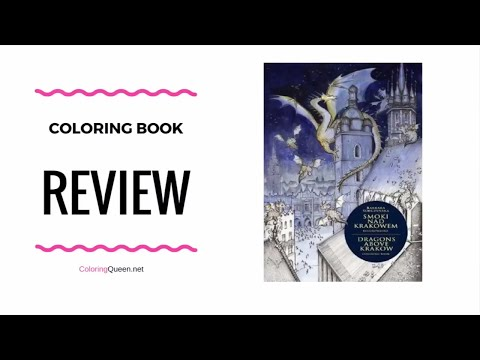 Smoki nad Krakowem / Dragons Over Krakow Coloring Book Review  – Barbara Sobczyńska