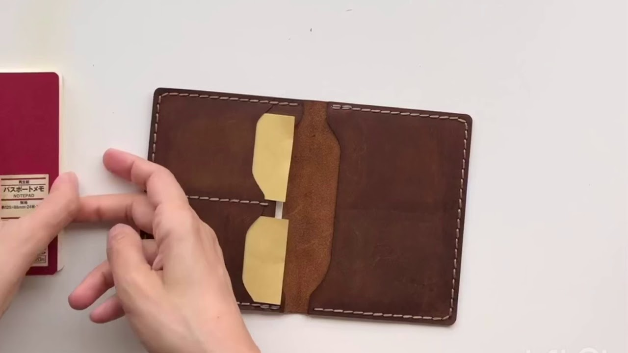 a31cd1ba131 No.06 Hand-stitched Leather Passport Wallet - Crazy Horse Brown. Galen  Leather