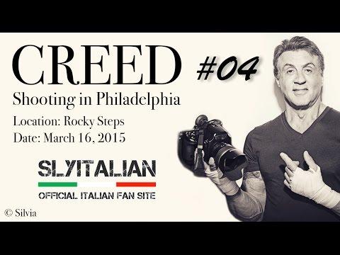 CREED - Riprese sulla scalinata di Rocky! Sylvester Stallone & Michael B. Jordan