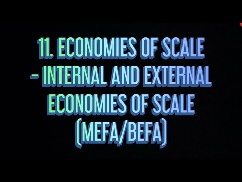 #11 Economies Of Scale - (internal  and external ) |MEFA|