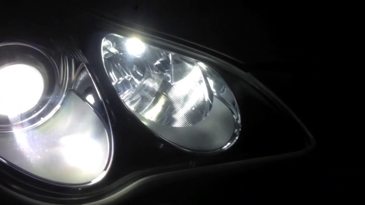 Infinity EX 37 установка ДХО + поворот / установка светодиодных ламп дальнего света