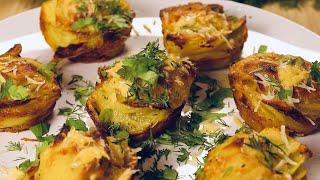 Картофельные слайсы / стопки с сыром запеченные в духовке! Вкуснятина!