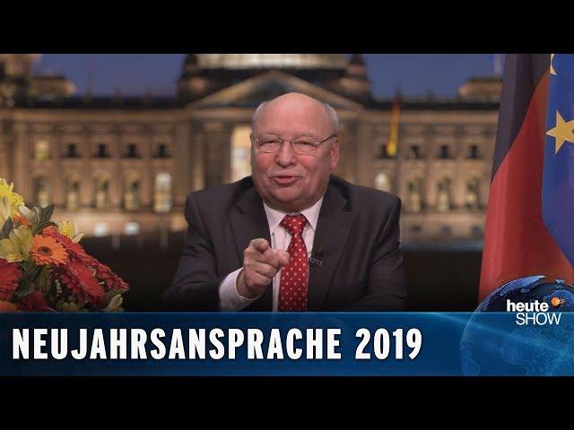 Die ehrliche Neujahrsansprache für 2019 – von Gernot Hassknecht   heute-show