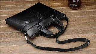видео Кожаная сумка – стильный аксессуар современного мужчины