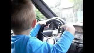 Первый урок вождения.