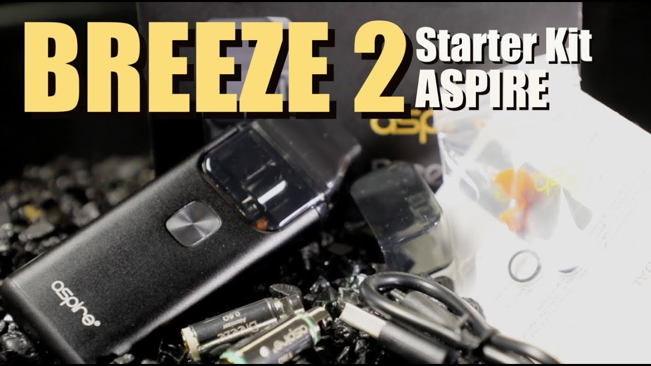 breeze 2 starter kit by aspire all in one vape kit youtube