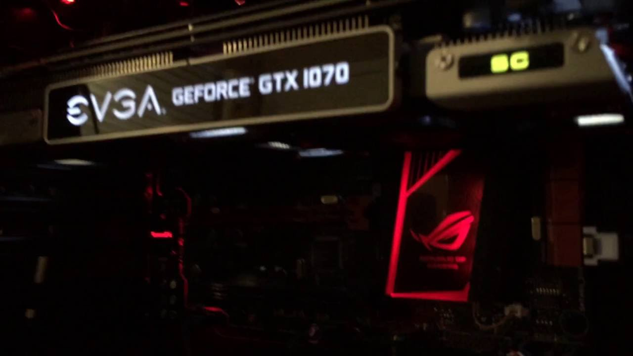 EVGA GTX 1070 SC installed and first look with noise levels
