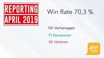 Reporting April 2019 für Tenniswetten Vorhersagen und 70 Prozent Win Rate
