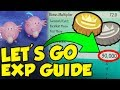 90,000 EXP FROM CHANSEY!? BEST Pokemon Let's Go EXP Guide & 6IV Guide!