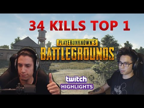 Twitch Highlights - Grimmmz & Anthony 34 kills Duo PUBG - BREAKING THE KILL RECORD Full Match