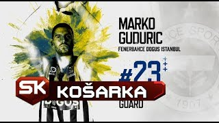 EVROLIGA | Marko Gudurić Meč Karijere 5 trojki 23 poena | Fenerbahče - Makabi Sport Klub