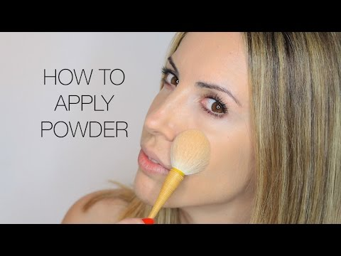 How to apply powder to your face? Video Tutorial