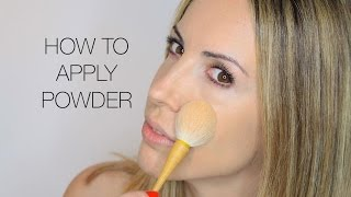 BASICS: HOW TO APPLY LOOSE OR PRESSED POWDER MAKEUP TUTORIAL
