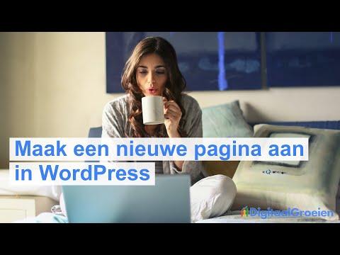 Een nieuwe pagina maken in WordPress