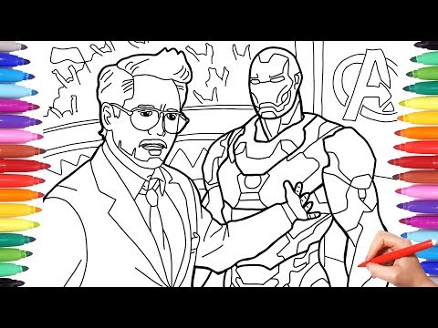 Iron Man Tony Stark Coloring Pages, Coloring Avengers Superheroes, Avengers Infinity war