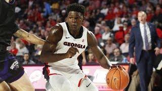 Georgia Basketball Highlights Vs. Western Carolina | College Basketball Highlights 2019 | 11.5.19