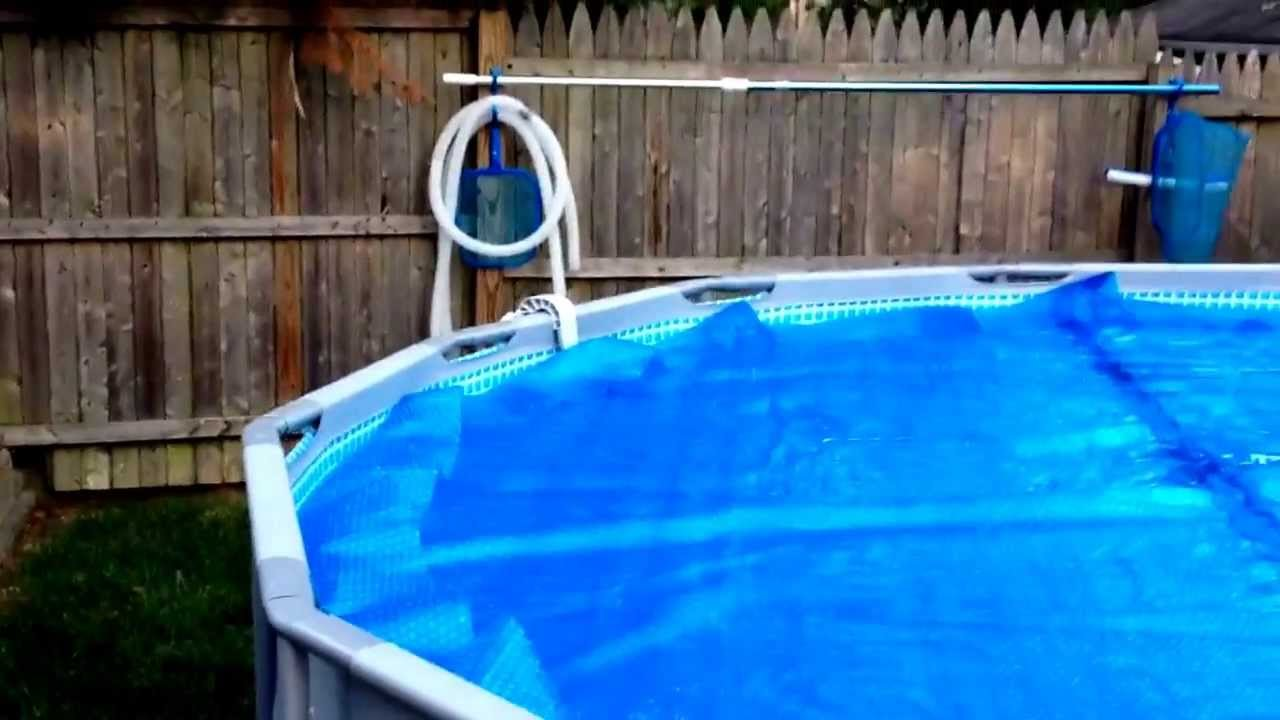 Intex Pool With Solar Cover Youtube