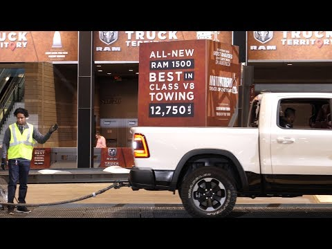 2020 Dodge RAM 1500 V8 Towing 15,000lbs Demonstration at 2019 New York Auto Show