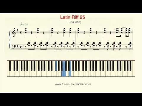 How To Play Piano: Latin Riff 25