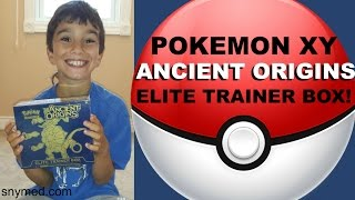 NEW Pokemon XY Ancient Origins 2015 Elite Trainer Box Opening! NICE PULL! (Ancient Traits) Jenna Em