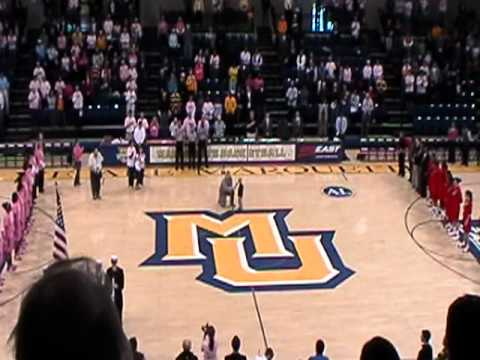 4yr old Cooper Smith Sings National Anthem at Marquette Game