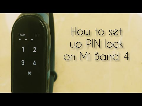 How to set up PIN lock on Mi Band 4
