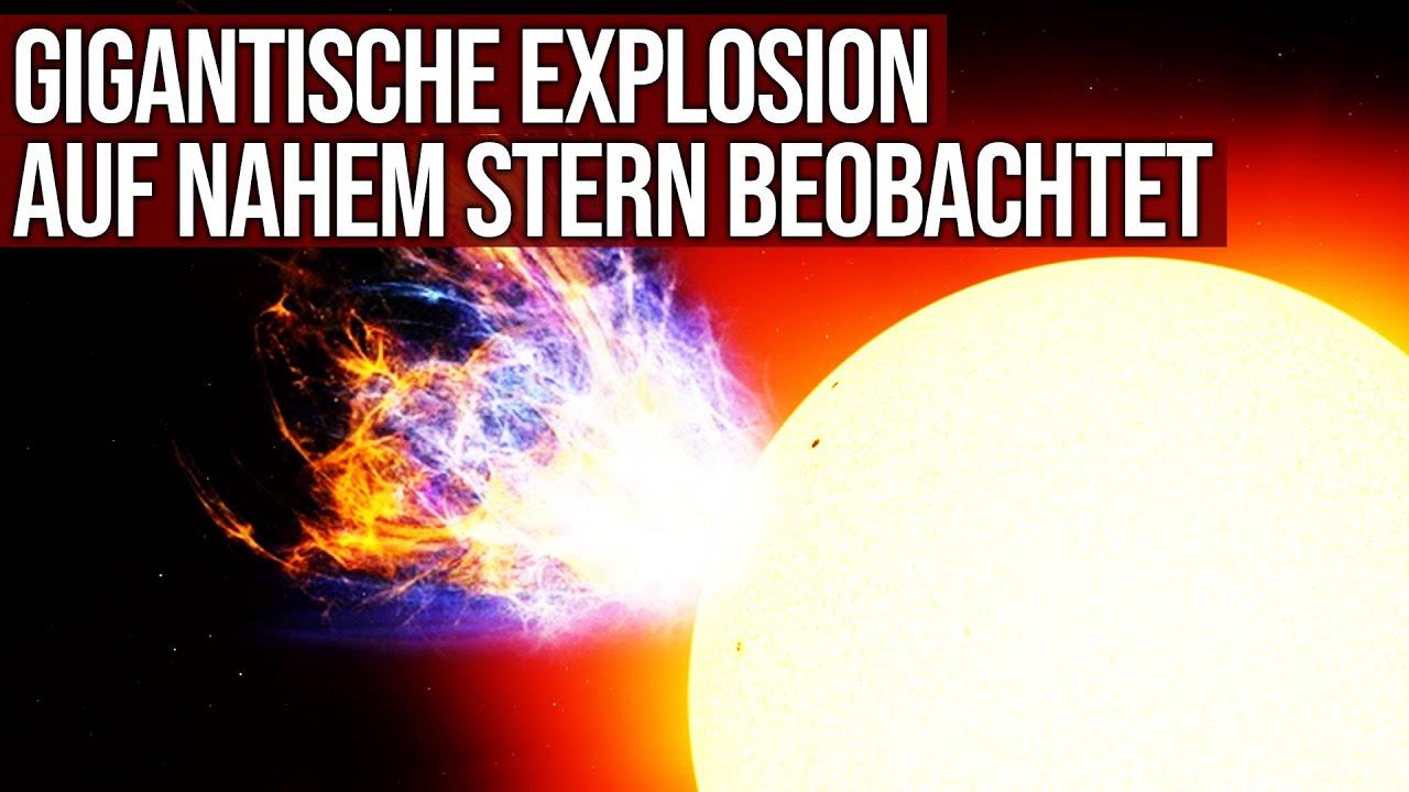 Gigantische Explosion auf nahem Stern beobachtet