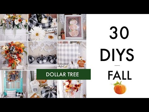 "🍁30 DIY DOLLAR TREE DECOR CRAFTS TUTORIAL 2019 🍁""I LOVE FALL ep. 14 Olivia's Romantic Home DIY"