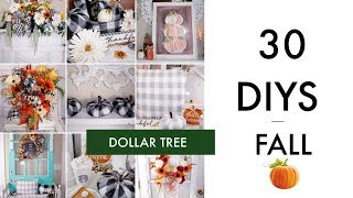 🍁30 DIY DOLLAR TREE DECOR CRAFTS TUTORIAL 2019 🍁