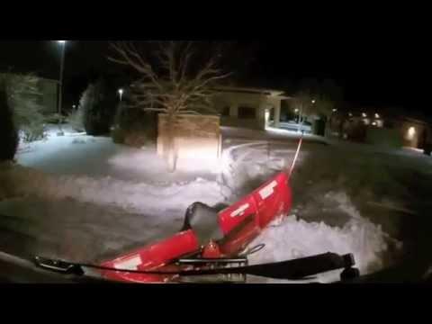 UTV Plowing Snow Gator 825i Boss Plow - YouTube