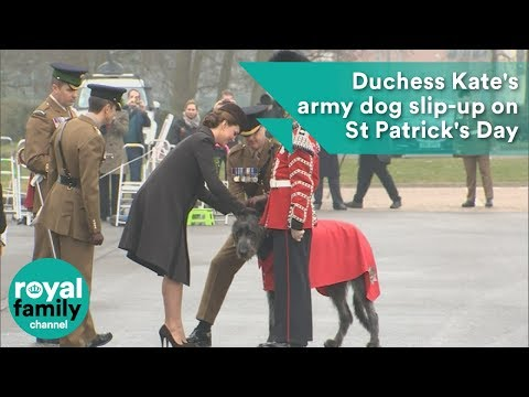 Duchess Kate's army dog slip-up on St Patrick's Day