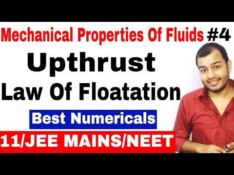 Fluids Mechanics 04 || Upthrust and Law Of Floatation for IIT JEE MAINS / JEE ADVANCE / NEET ||