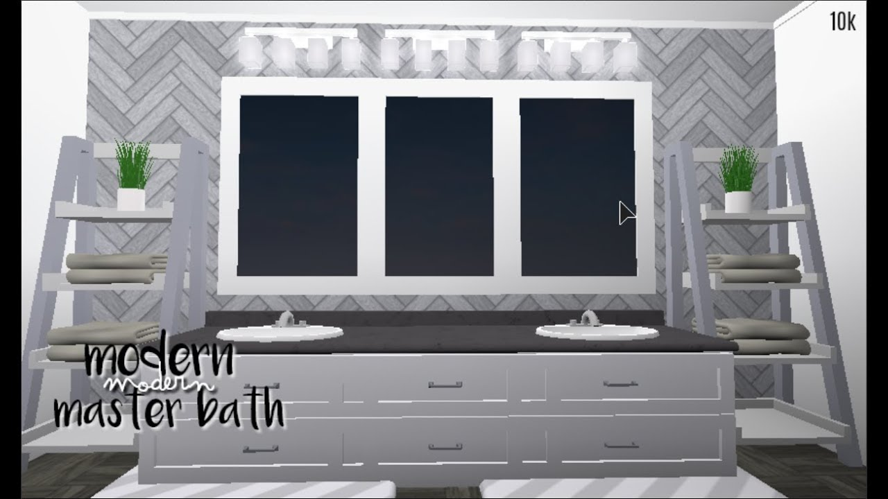 Bloxburg Modern Master Bath 10k Youtube