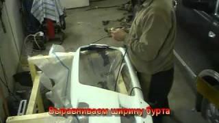 Установка сетки Mattig Тюнинг передний бампер MITSUBISHI LANCER X