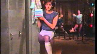 A young Courtney Cox in a 1985 commercial for Tampax tampons.