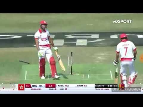 sri Lanka vs hong kong  5 over match