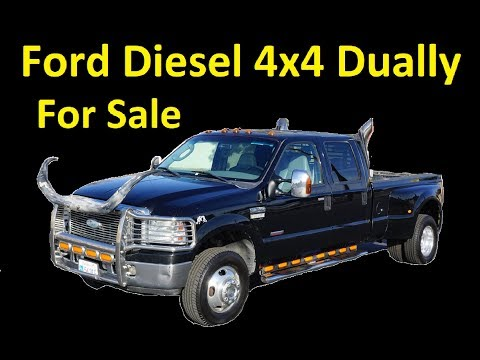 For Sale F350 Diesel 4x4 Dually Video Crew Cab Super Duty Pickup Video