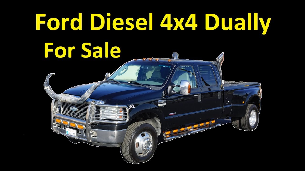 F350 Diesel For Sale >> For Sale F350 Diesel 4x4 Dually Video Crew Cab Super Duty Pickup Video