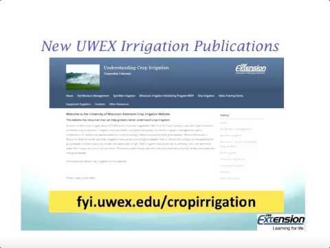 Agricultural Irrigation Management: The Current Webinar 11