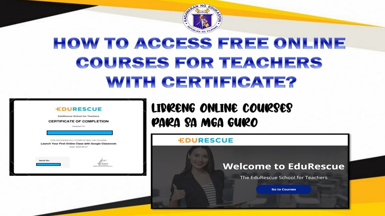 free online education courses for teachers