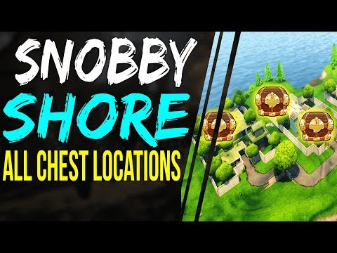 Fortnite ALL SNOBBY SHORE CHEST LOCATIONS - Search Chests in Snobby Shores week 8 Battle Royale