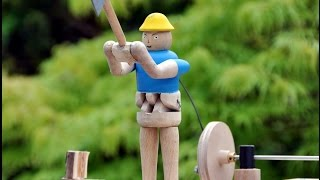 My Movie A Man Chopping A Log, An Automaton Turned In Wood