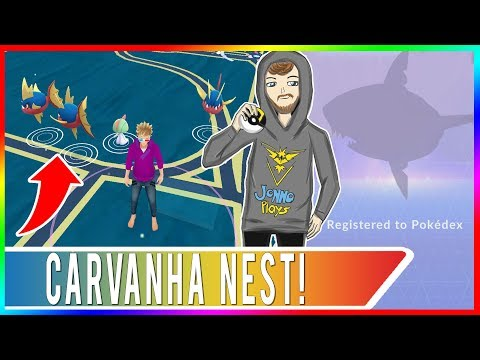 SHARPEDO HUNTING IN SAN FRANCISCO! Carvanha Nest in Mission Dolores Park! High Spawn Rate Carvanha