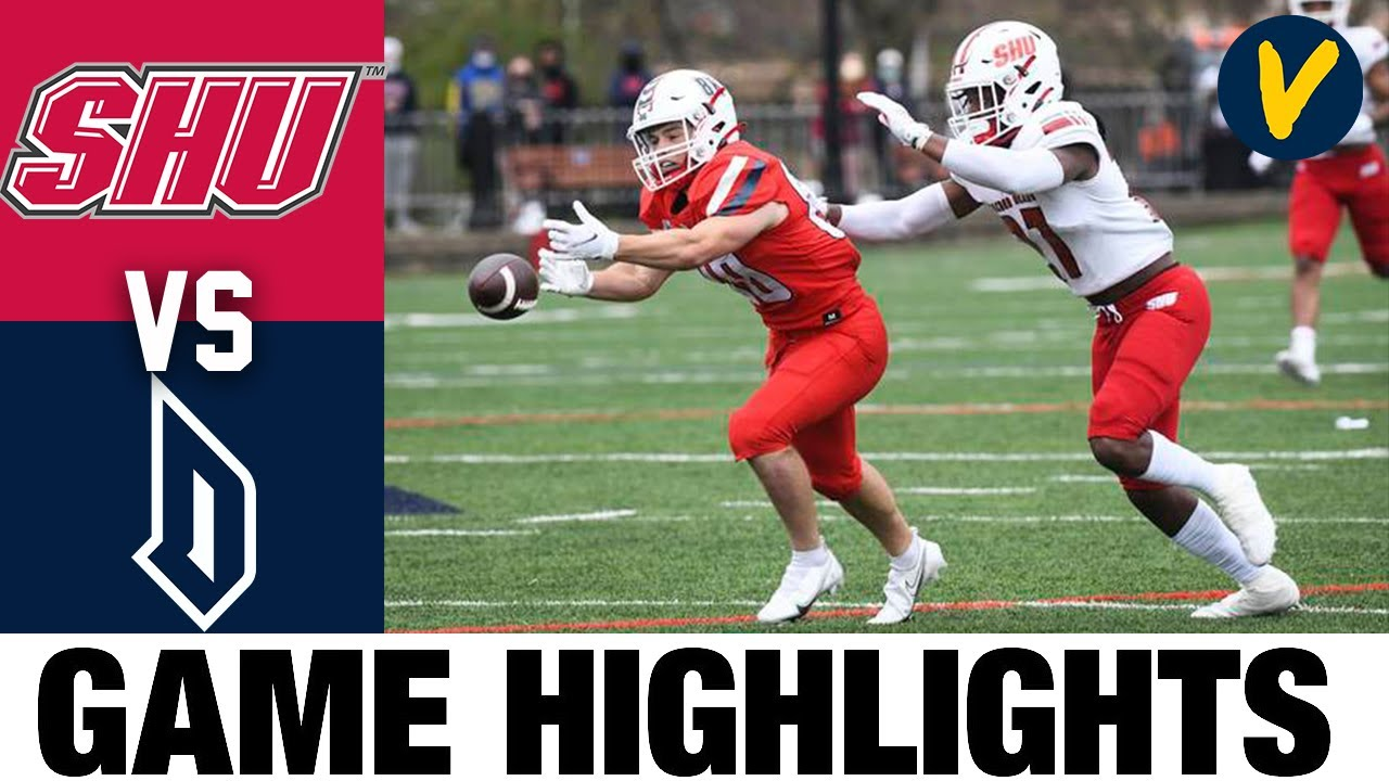 Sacred Heart vs #25 Duquesne NEC Championship Highlight | FCS 2021 Spring College Football Highlight