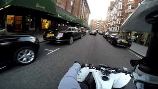 Harrods Knightsbridge On A Yamaha Yfz450R + Raptor 700 Quad Bike In Central London Part 6